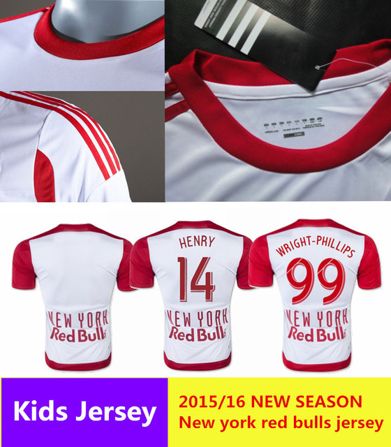 2015 2016 New York Red Bulls Home Trikot Wei Henry Red