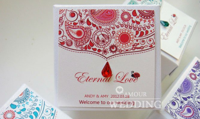 Wholesale 50pcs Lot Peacock Wedding Favors Box Wedding Candy Box Wedding Gifts THA86 2 Red