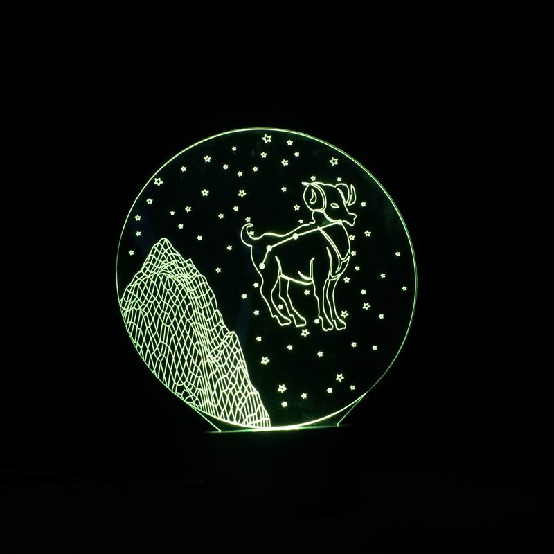 Fine 3D Beautiful Pattern LED Night light with USB Power Touch Botto as Gift for Lover(China (Mainland))