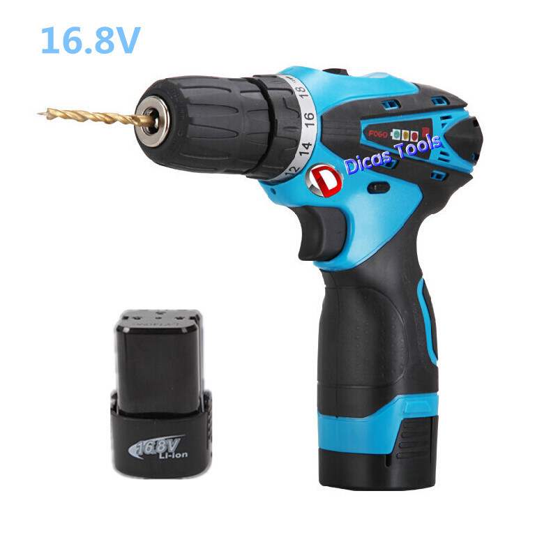 product hot selling 16.8v li-ion 2*battery rechargeable drill multi-functional household electric screwdriver drill