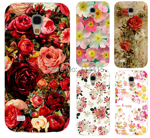 2015 Freeshipping Colorful Brilliant Rose Peony Flowers Background phone case cover skin Shell for S