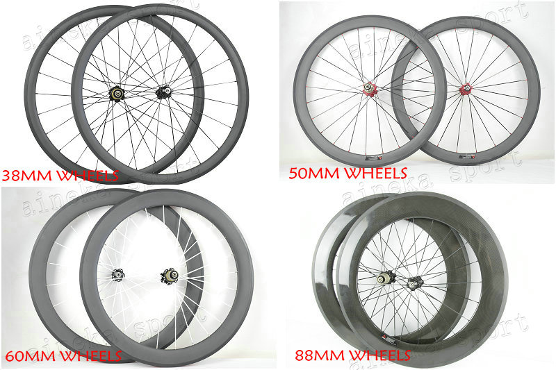 38/50/60/88mm Depth Clincher/Tubular Carbon Wheels with NOVATEC A271SB/F372SB bike hub, Full carbon fiber wheels, Free shipping(China (Mainland))