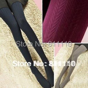 Big Sale ! Trend Knitting 2014 new super slim hemp type grain pattern meat Silk stockings tight pantynose for women 7 Colors