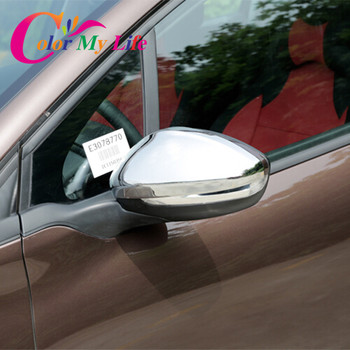 Hot sale Rear view mirror Rear-view backup decorative chrome cover case for 2014 2015 Peugeot 2008 car accessories