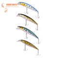 1Piece Steel PVC Fishing Tackle Artificial 3D Minnow Bass Fishing Bait Lures 110mm 130mm 140mm 180mm