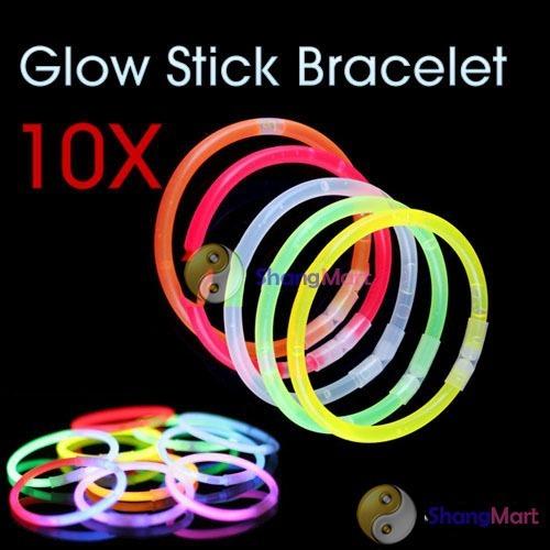 Free shipping: 10 PCS Multi Color Glow Stick Light Bracelets Party Fun wholesale