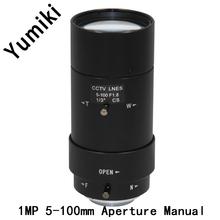 Buy Yumiki 5-100mm Megapixel MP HD manual focus manual iris vari-focal CMOS/ CCD SDI CVI CCTV camera lens 1/3 CCTV lens CS mount for $31.00 in AliExpress store