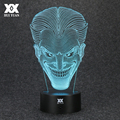 Batman Opponent Joker 3D Lamp USB Jack Novelty Night Light LED Desktop Decoration Table Lamps Funny
