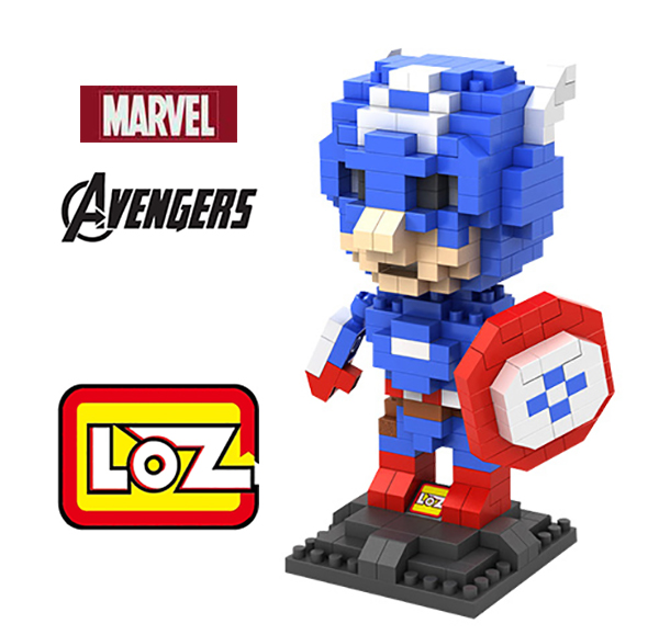 Avengers Captain America Figure Toy LOZ Educational Minifigures Block Diamond Building Blocks ABS plastic Bricks Toys With Box(China (Mainland))