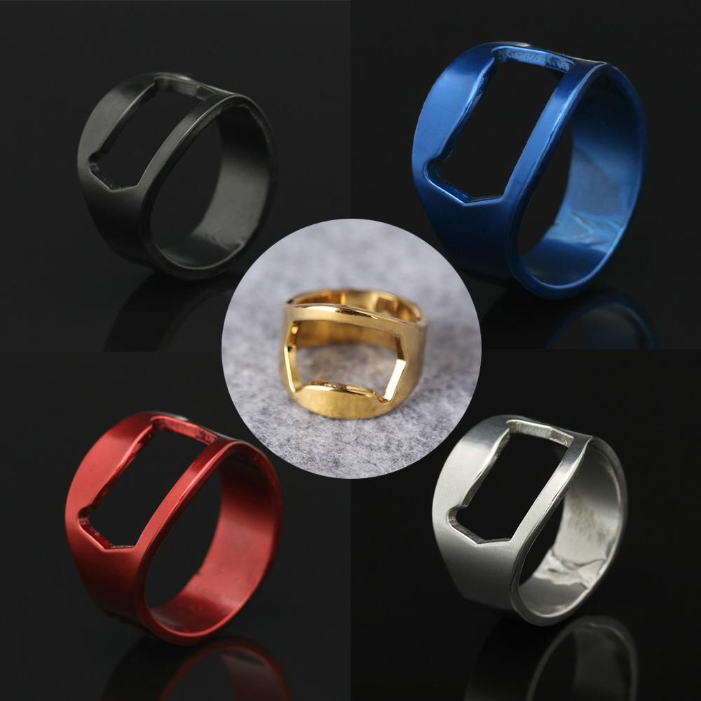 New Arrival Creative Versatile Stainless Steel Finger Ring Ring-Shape Beer Bottle Opener(China (Mainland))
