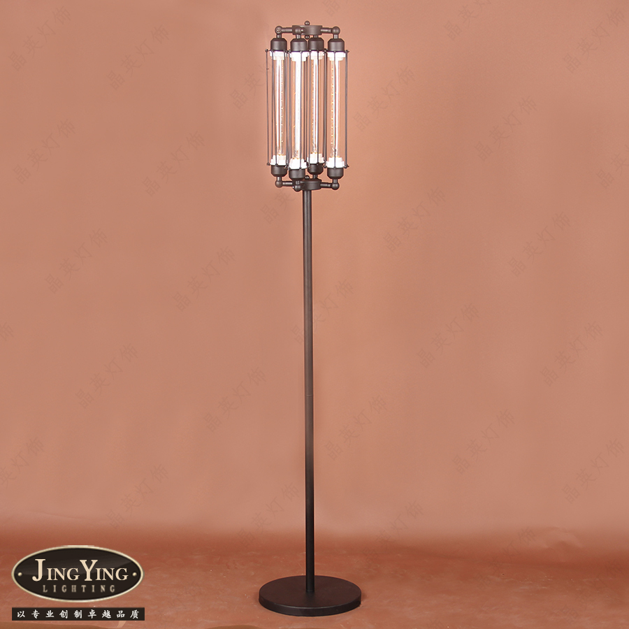 Jing ying lighting nordic industrial style french for Living room floor lamps