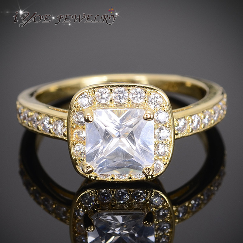 IYOE IYOE Wholesale Square Cut Simulated Diamond Wedding Engagement Ring For