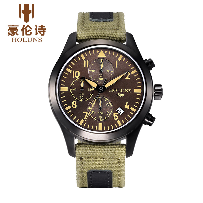 Holuns tg008 watch geneva brand genuine multifunctional outdoor military watches men chronograph for Outdoor watches