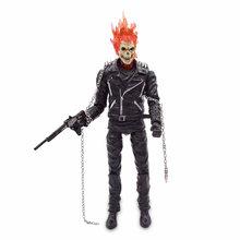 2019 Nova 9 ''Superhero Ghost Rider Johnny Blaze Vermelho e Azul PVC Action Figure Collectible Modelo Toy(China)