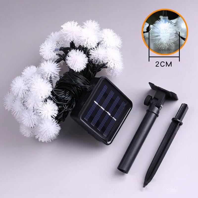 solar LED fuzzy ball light string-6