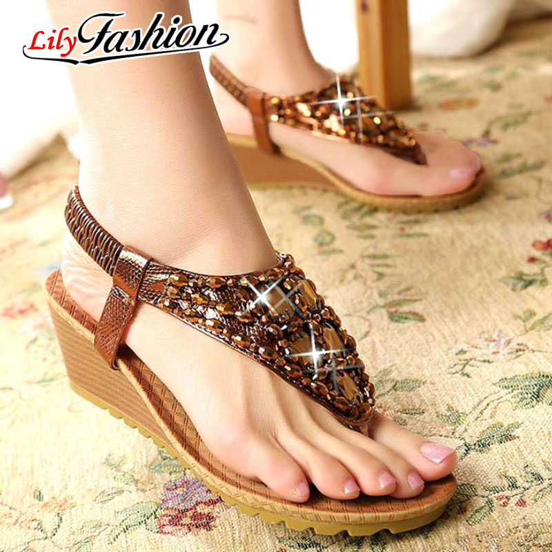 Free shipping 2016 women leather sandals wedges female platform sandals fashion women sandals women hot sale shoes AF325<br><br>Aliexpress