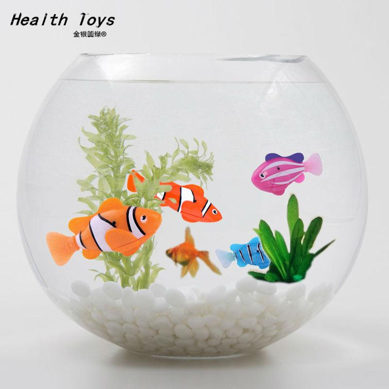 Free Shipping Robofish Activated Battery Powered Robo Fish Toy Childen Kids Robotic Pet 2016 hot sale 4 color(China (Mainland))
