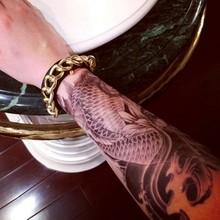 HC2005 Halloween Temporary Armband Tattoo Fish VS water VS Flower waterproof Big size fake tatoo sticker
