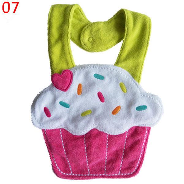 Kids Girl Boy Baby Lunch Bibs Animals Cotton Saliva Towel waterproof Infant Bibs