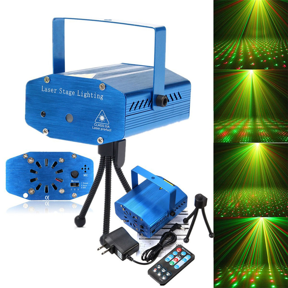 New light Stage Shining Lamp Sound Activation Stage Laser Star Starry Effects Projector - Green&Red Lights Bar Disco Party Lamp(China (Mainland))