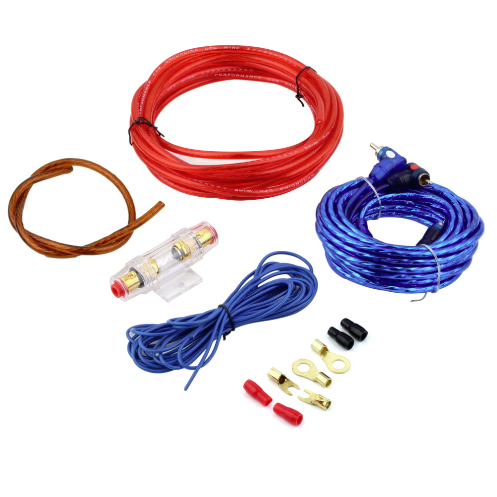 1500W 8GA Car Audio Subwoofer Amplifier AMP Wiring Fuse Holder Wire Cable Kit Hot Worldwide(China (Mainland))