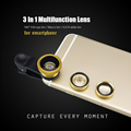3 in 1 Mobile Phone Lens 180 Degree Fisheye 0 67X Wide Angle Macro Optical Glass