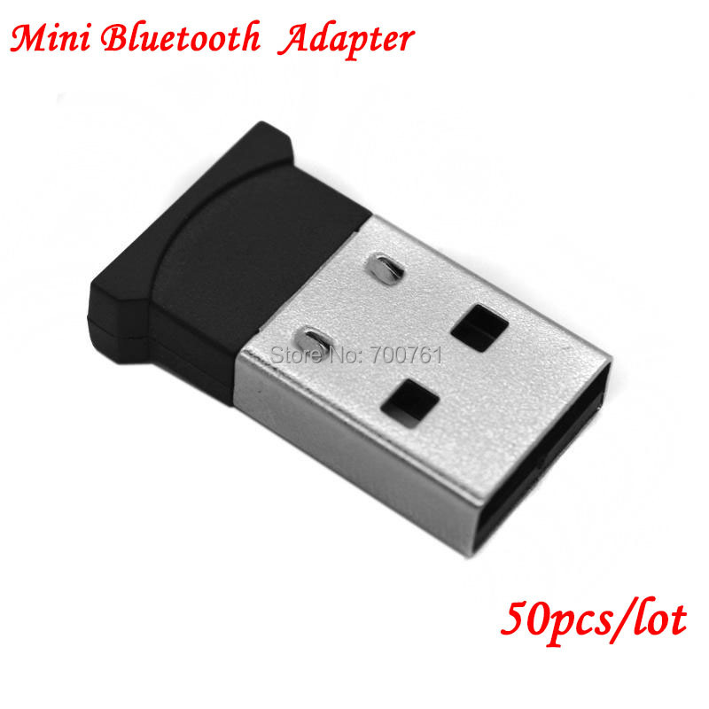 High quality smallest USB2.0 wireless reciever dongle mini USB bluetooth V 2.0+EDR adapter for pc laptop 50pcs/lot free shipping(China (Mainland))