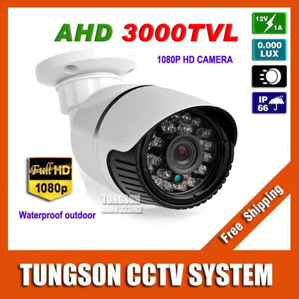 New Arrival 2MP AHD IMX322 Mini HD CCTV Camera 3000TVL Outdoor White & Gray Small Metal Bullet 1920*1080P Security Surveillance(China (Mainland))