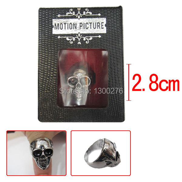 Cartoon movie tv play game alloy ring Anime cosplay The Punisher ring metal ring mask ring finger(China (Mainland))