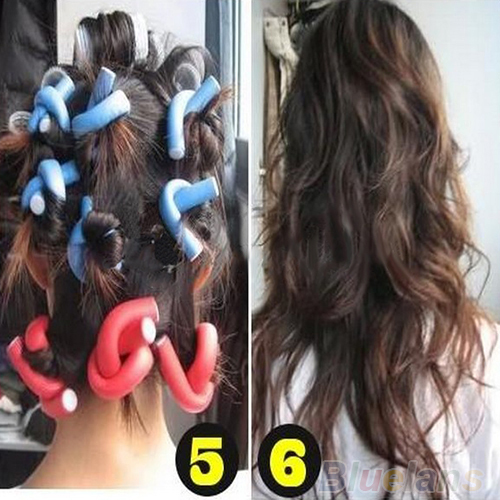Гаджет  10Pcs/set Curler Makers Soft Foam Bendy Twist Curls DIY Styling Hair Rollers Tool for Women Accessories None Красота и здоровье