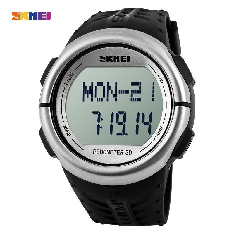 SKMEI 1058 Pedometer Heart Rate Monitor Calories Counter Digital Watch Men Women Outdoor Wristwatches Sports Watches(China (Mainland))