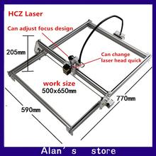 Laser 50 * 65mm large area 5500 mW laser engraving machine DIY laser cutter machine Mini 5.5W laser module marking machine
