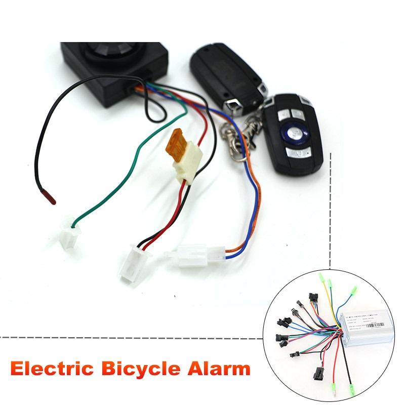 JS Plastic And Steel Electric Alarm Lock Bike Acessories Bisiklet Kilidi Bike Lock Cadeado Bicycle Lock Bike Alarm