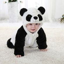 Autumn Winter Baby clothing long sleeve Warm Panda Jumpsuits Baby Rompers Baby Boy Clothes