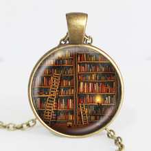 Library Book Case Necklace Vintage Style Gift for Students Teachers and Librarians Necklace Old Books Necklace Hot Selling(China (Mainland))