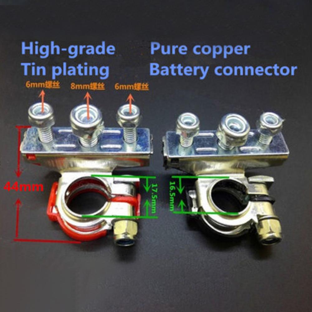 2X Batería Terminal Borne Conectores Heavy Duty Pernos De Latón positivo negativo