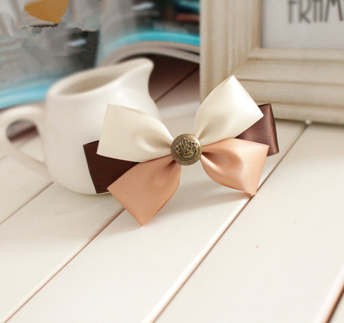 girl Fashion ribbon bow hairpins hair clips for woman lady hair accessories for girl headwear for hair(China (Mainland))