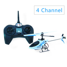 4G RC Helicopter 4 Channel Single Blade LED Gyro Blue RC Helicopter Children Outdoor Toys Kids Toy Gifts Cool Gifts RC Toy