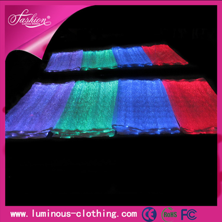 2015 new LED luminous fabric fiber optical glow material RGB changeable colors(China (Mainland))