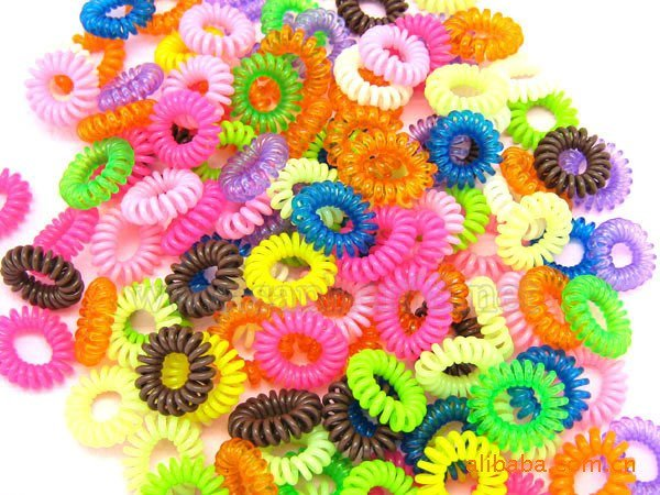 100pieces Baby girl Kids Hair accessaries Rainbow Hair bands ElasticTies Ponytail Holder Ponies Light Colour