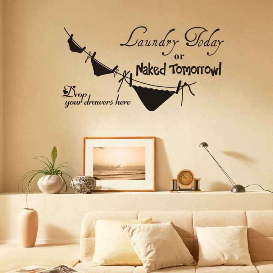 Mosunx Business Naked Tomorrow Toilet  Removable Wall Stickers Mural Decal Home Decor