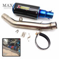 free shipping motorcycle escapamento de moto Akrapovic muffler exhaust pipe middle pipe for KAWASAKI Z800 2013