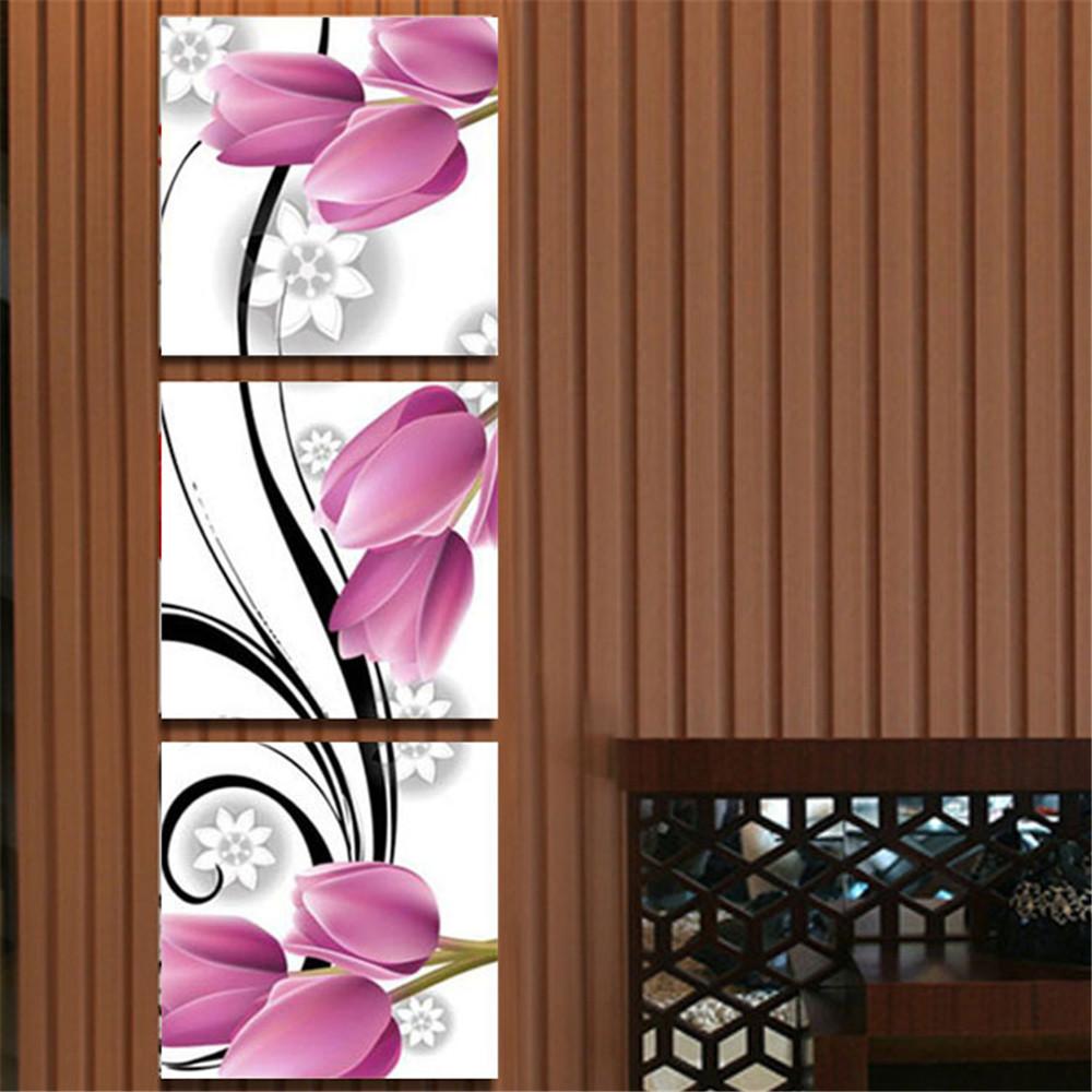 Vergelijk prijzen op tulip flowers paintings online winkelen kopen lage prijs tulip flowers - Schilderij decoratie voor woonkamer ...