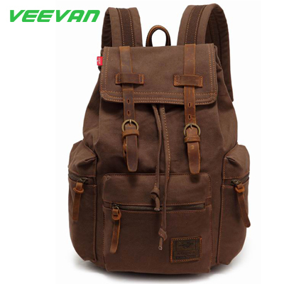 New arrival 2014 vintage bags men backpack women rucksack canvas laptop backpacks casual school bag fashion mochila wholesale(China (Mainland))