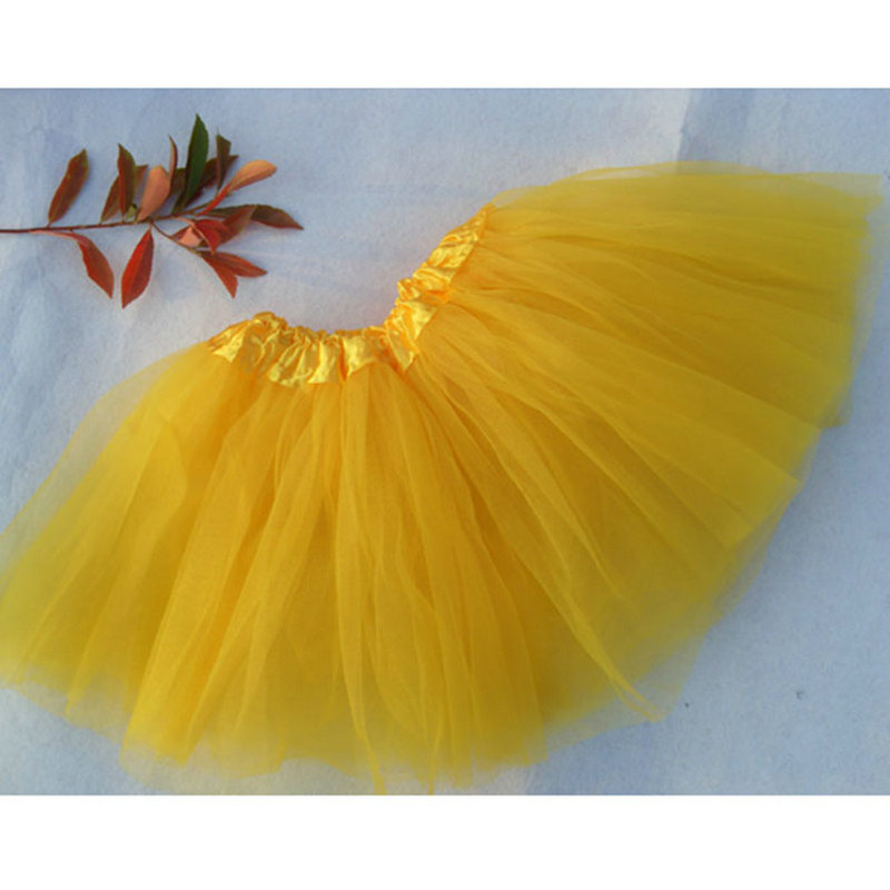 2016 Sweet Cute Girl Dance Tulle Tutu Ballet Fluffy Platter Skirt Costume Dance Skirts Princess Skirt