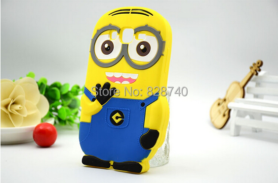 cute 3D Phone Cases silicone soft shell small yellow people cell phone case Cover Samsung Galaxy Express 2 / Win Pro G3812 - Bobo shops store