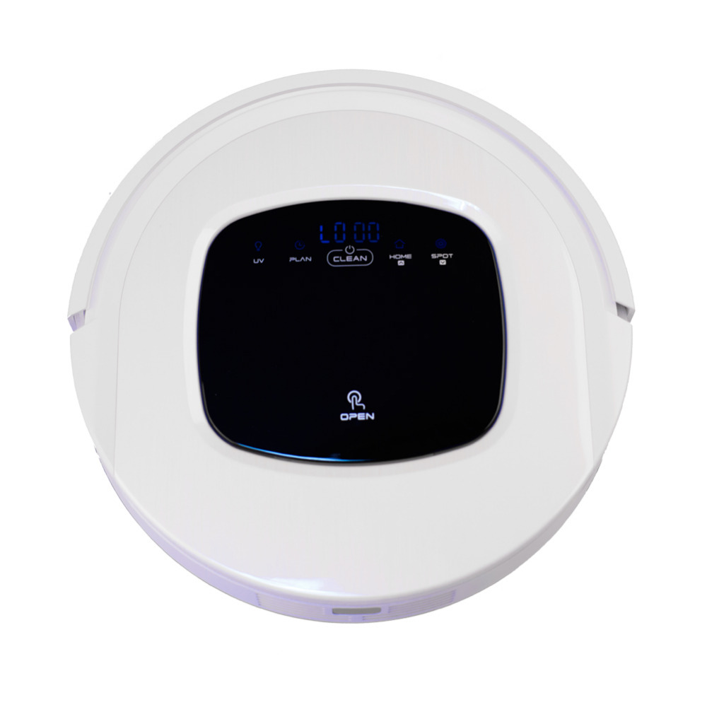 Smad 110V Electric Robot Vacuum Cleaner 8 Sensors Auto Recharge LED Display Robot Vaccums Cleaner with UV Function(China (Mainland))