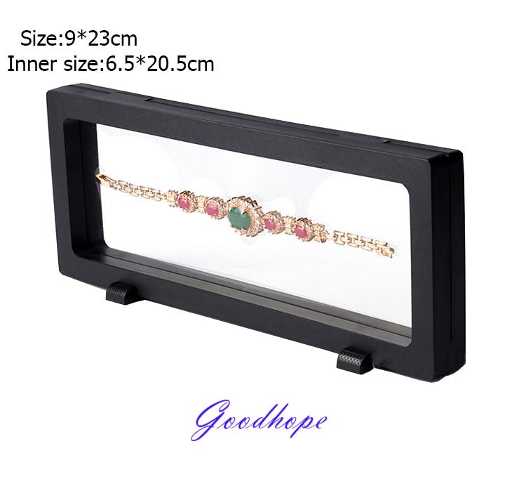 PET Elastic Membrane Plastic Frame Ring Necklace Charm Bracelet Bangle Pendant Watch Jewelry Set Display Stand Holder 9*23cm(China (Mainland))
