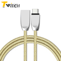 Zinc Alloy USB Type C Nylon Line cable for Xiaomi Htc Samsung type c charger wire