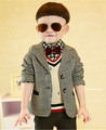 Children s clothes spring and autumn 2015 Boy s coat children Small suit Baby woolen cloth